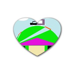 Abstract landscape  Rubber Coaster (Heart)