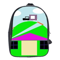 Abstract landscape  School Bags(Large)