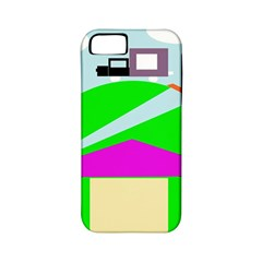 Abstract landscape  Apple iPhone 5 Classic Hardshell Case (PC+Silicone)