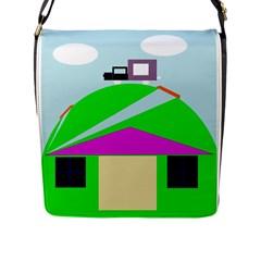 Abstract landscape  Flap Messenger Bag (L)