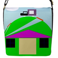 Abstract landscape  Flap Messenger Bag (S)