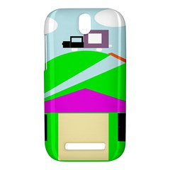Abstract landscape  HTC One SV Hardshell Case