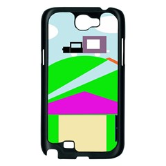 Abstract landscape  Samsung Galaxy Note 2 Case (Black)