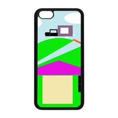 Abstract landscape  Apple iPhone 5C Seamless Case (Black)