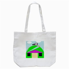 Abstract Landscape  Tote Bag (white)