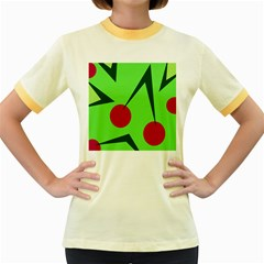 Cherries  Women s Fitted Ringer T-Shirts