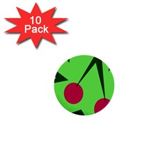 Cherries  1  Mini Buttons (10 Pack)