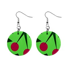 Cherries  Mini Button Earrings