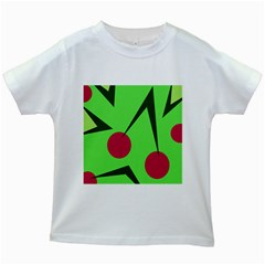 Cherries  Kids White T-Shirts