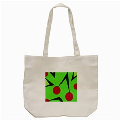 Cherries  Tote Bag (cream)