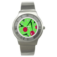 Cherries  Stainless Steel Watch