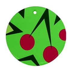 Cherries  Round Ornament (Two Sides)