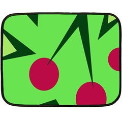 Cherries  Double Sided Fleece Blanket (Mini)