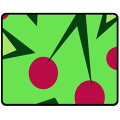 Cherries  Fleece Blanket (medium)
