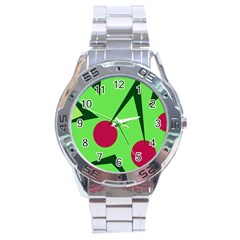 Cherries  Stainless Steel Analogue Watch