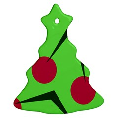 Cherries  Christmas Tree Ornament (2 Sides)