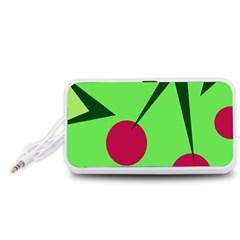 Cherries  Portable Speaker (White)