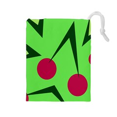 Cherries  Drawstring Pouches (Large)