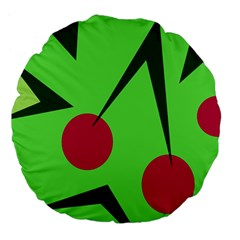 Cherries  Large 18  Premium Flano Round Cushions