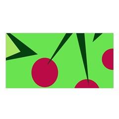Cherries  Satin Shawl