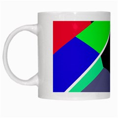 Abstract Fish White Mugs