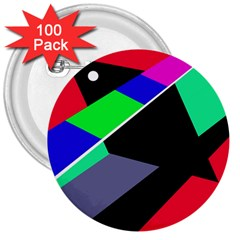 Abstract fish 3  Buttons (100 pack)