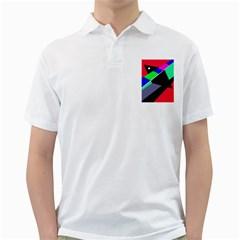Abstract Fish Golf Shirts