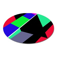 Abstract Fish Oval Magnet