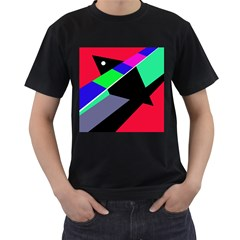 Abstract fish Men s T-Shirt (Black) (Two Sided)