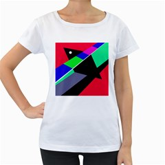 Abstract fish Women s Loose-Fit T-Shirt (White)