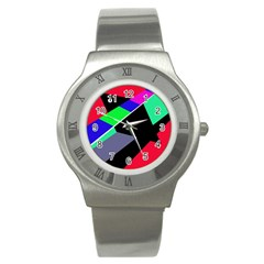 Abstract fish Stainless Steel Watch
