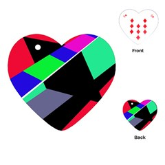 Abstract fish Playing Cards (Heart)