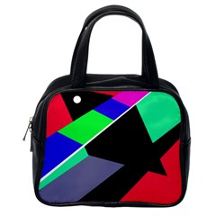 Abstract fish Classic Handbags (One Side)
