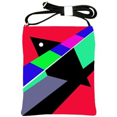 Abstract fish Shoulder Sling Bags