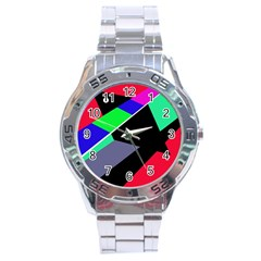 Abstract fish Stainless Steel Analogue Watch