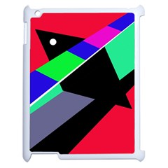 Abstract fish Apple iPad 2 Case (White)