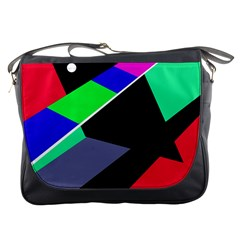 Abstract fish Messenger Bags