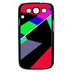 Abstract fish Samsung Galaxy S III Case (Black)