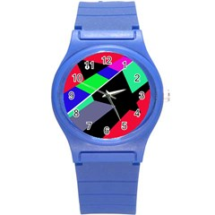 Abstract fish Round Plastic Sport Watch (S)
