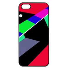 Abstract fish Apple iPhone 5 Seamless Case (Black)