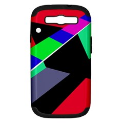 Abstract fish Samsung Galaxy S III Hardshell Case (PC+Silicone)