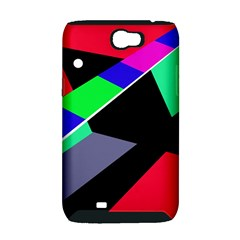 Abstract fish Samsung Galaxy Note 2 Hardshell Case (PC+Silicone)