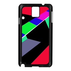 Abstract fish Samsung Galaxy Note 3 N9005 Case (Black)