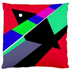 Abstract fish Standard Flano Cushion Case (One Side)