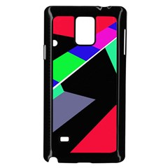 Abstract fish Samsung Galaxy Note 4 Case (Black)