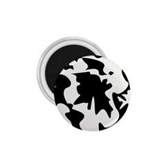 Black and white elegant design 1.75  Magnets