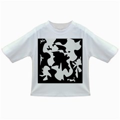 Black and white elegant design Infant/Toddler T-Shirts
