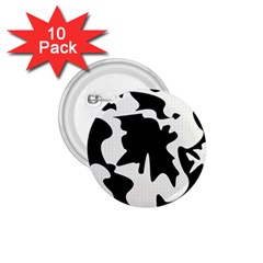Black and white elegant design 1.75  Buttons (10 pack)