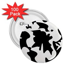 Black and white elegant design 2.25  Buttons (100 pack)