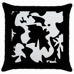 Black and white elegant design Throw Pillow Case (Black)